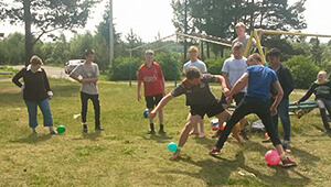 The children at the camp participated in games