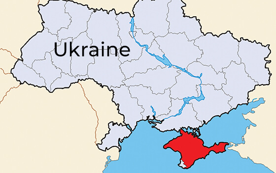 The Crimea region of Ukraine