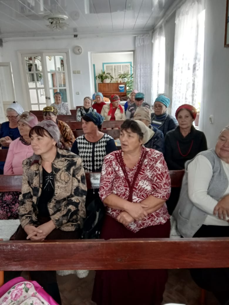 Women's meeting at the House of Prayer.