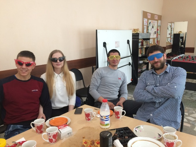 Timur and Artem (in yellow and red glasses) are orphanage graduates who help Vadim and his Orphans Reborn team minister to other orphans.
