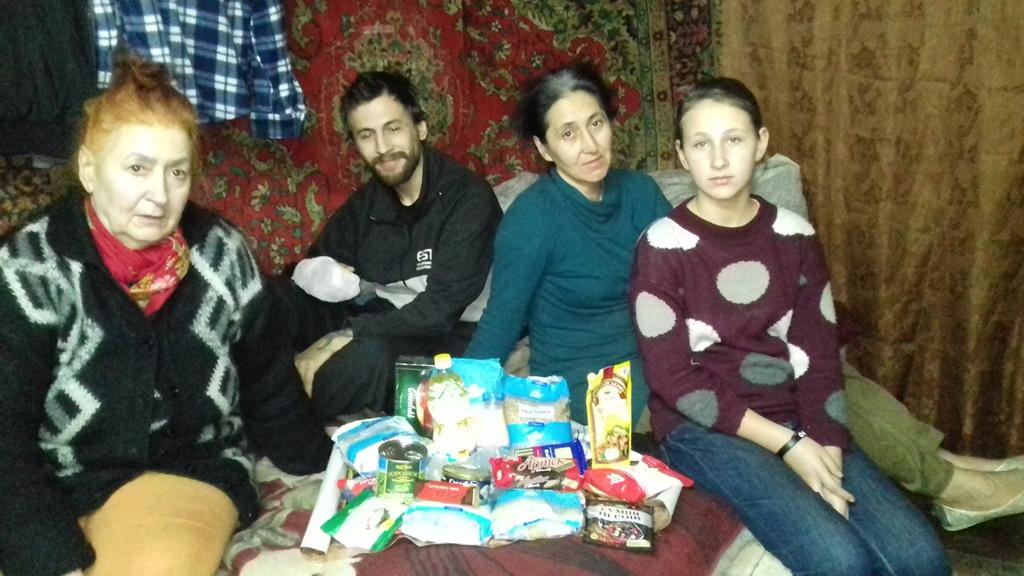 Galina Gordeeva (49 years old), her son Dmitri (30 years old), her daughter Nadia (12 years old), and Galina's mother Valentina Kolomiets (67 years old).