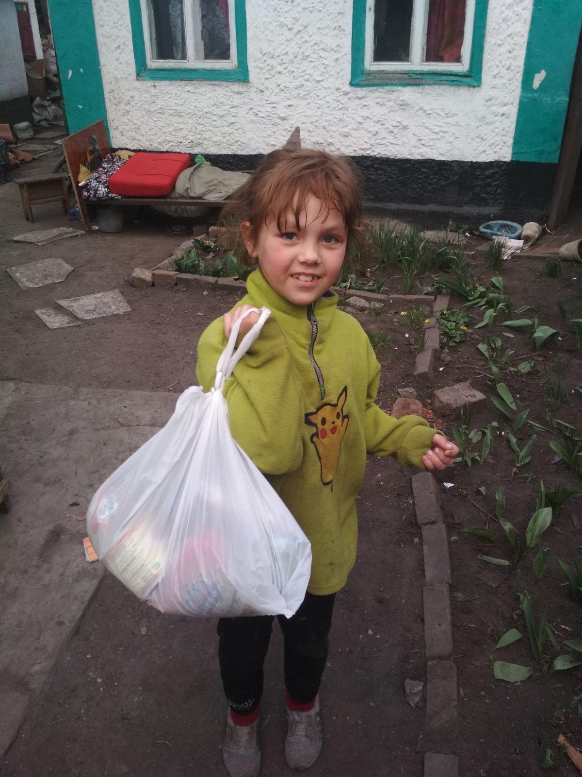 Providing food and hygiene items.