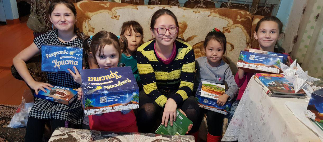 Building relationships with non-believing children in Sinsk.