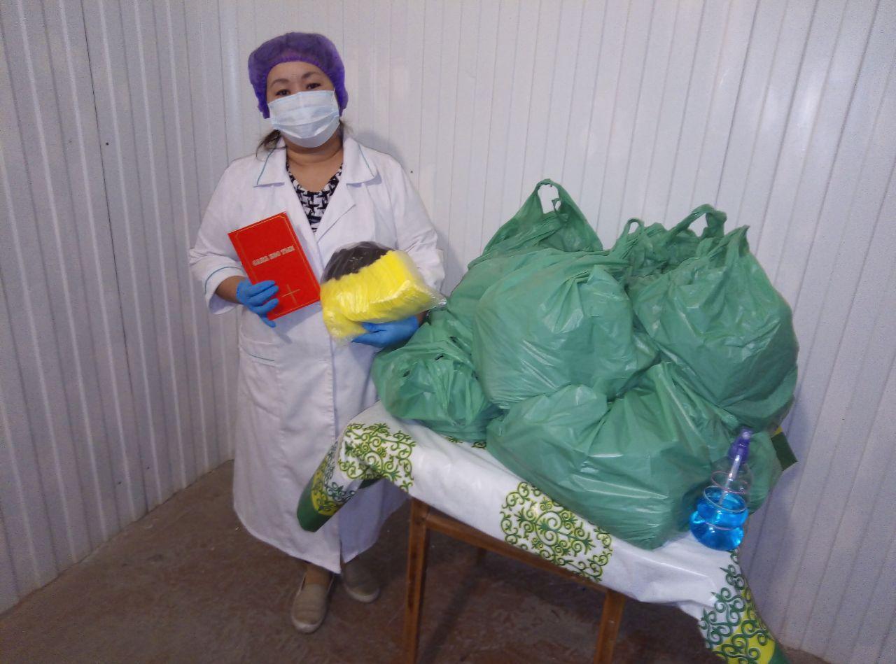 Providing medical masks for doctors and nurses.