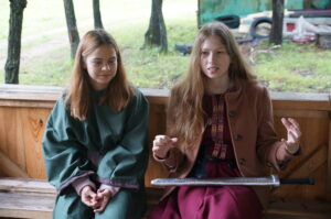 Katya (right) enjoyed the close Christian fellowship.