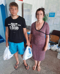 Oksana and her 17-year-old son Leonid