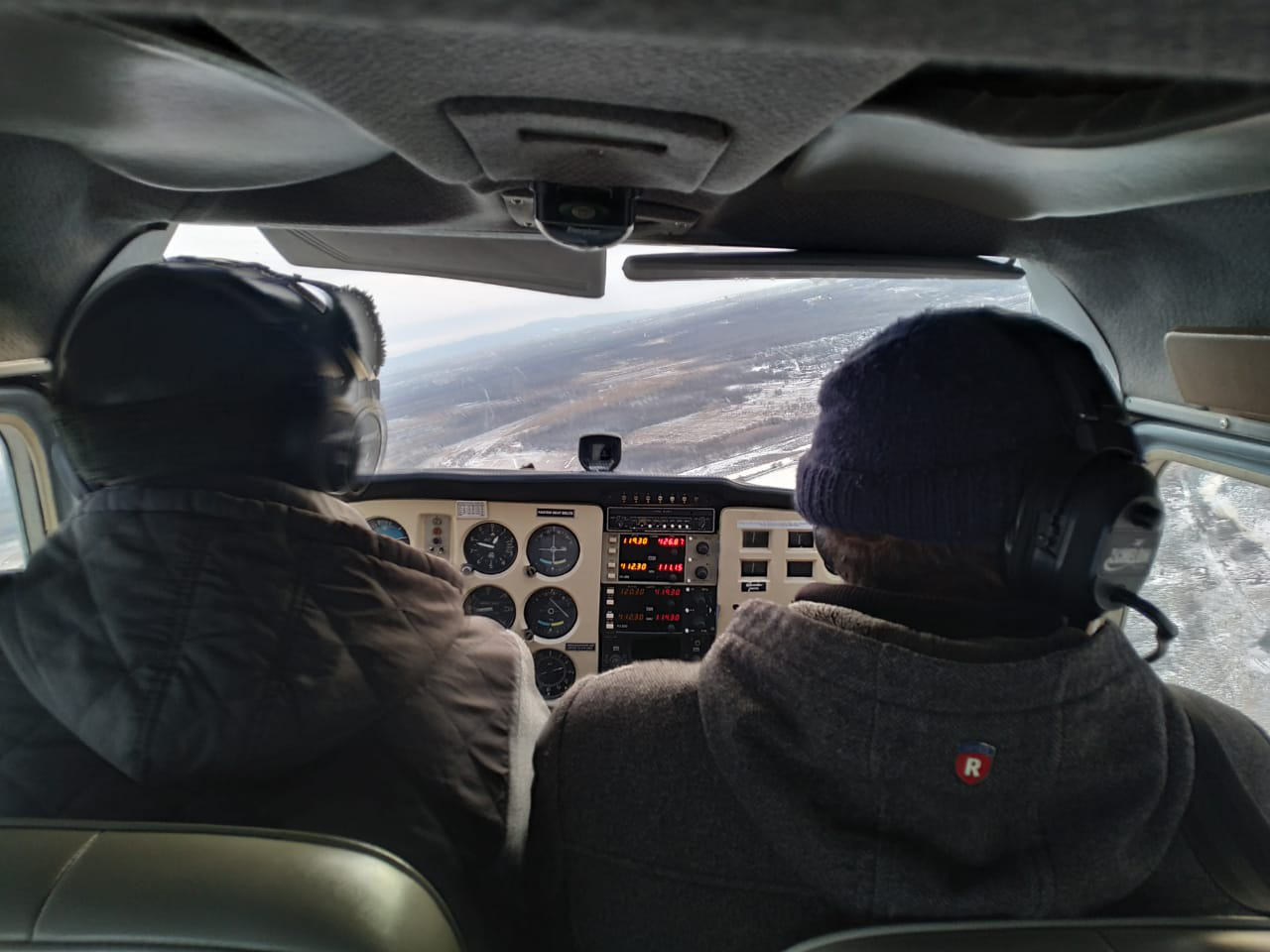 The first flight.