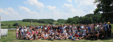 A summer camp near the Seversky-Donets River reached double the expected number of children and their families.