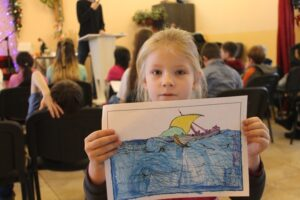 Forty children participated in the Bible school at Pastor Sergei's church.